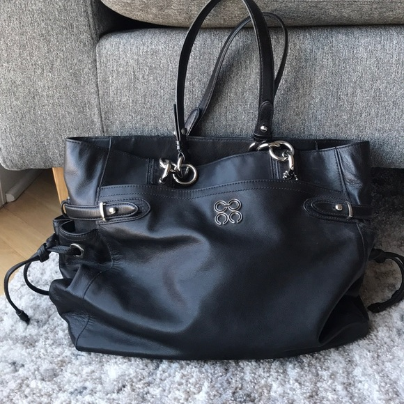 e865a0b1246c Coach Handbags - Black Coach Tote Bag